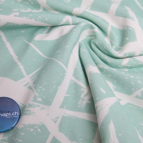 squiggle mint by nipnaps organic sweat